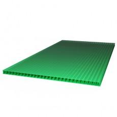 "Сотовый поликарбонат ""ТитанПласт/Sotek"" 8,0 мм (2100х12000), зелёный"