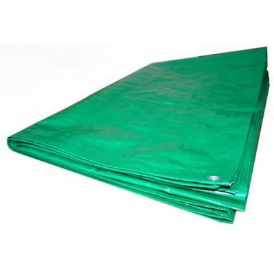 Тент из полиэтиленовой ткани зеленый ТЗ-120 5м*6м