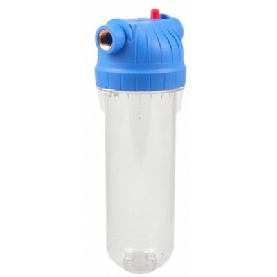 Прозрачный магистральный фильтр для холодной воды Slim Line 10 Дюймов АБФ-10-34