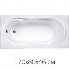 Ванна на раме Bas AHIN 170*80 без фронтальной панели, БЕЗ сифона
