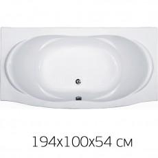 Ванна на раме Bas FIESTA 194*100 без фронтальной панели, БЕЗ сифона, без гидромассажа