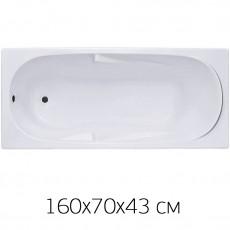 Ванна BAS Мальдива 160х70, ППУ Стандарт