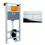 Комплект: Инсталляция OLI 120 (0500*1150*0126), механическая + Панель слива SLIM хром  глянец, OLI