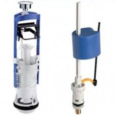Комплект: клапан  спуска DECO, наполнительный клапан UNI BOTTOM, нижняя  подводка, пластик, 1/2, OLI, 037192