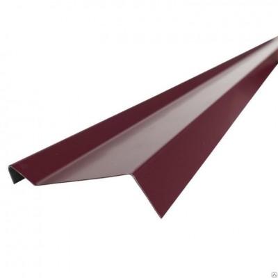 """Планка примыкания для """"SHINGLAS"""" РЕ 15х70х15х2000 мм (RAL3005 вишня)"""