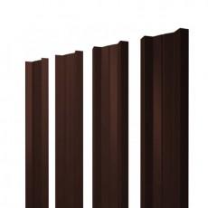 Штакетник М-образный односторонний RAL 8017 шоколад h=1,2 м