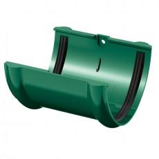 Соединитель желоба водосточного ТН ПВХ, зеленый