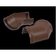Угол желоба водосточного 135° ТехноНИКОЛЬ ПВХ, коричневый