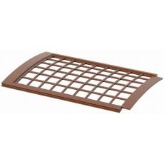 Решетка желоба водосточного ПВХ (защитная) 0,6м, коричневый ТН