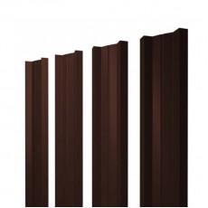 Штакетник М-образный односторонний RAL 8017 шоколад h=1,8 м