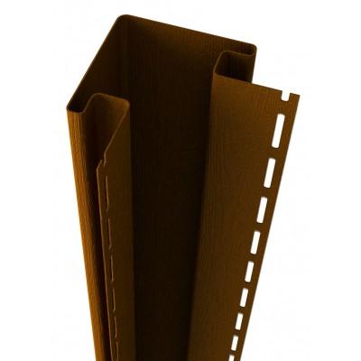 Наружный угол Ю-Пласт, коричневый, длина 3,05м (1 уп=5шт.)