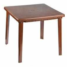 Стол квадратный 800х800х740 мм коричневый