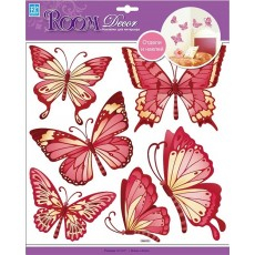 3120 Бабочки золотые Стикер СВА