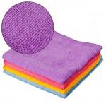 """Набор салфеток из микрофибры VETTA универсальные 4 шт, """"Одноцвет"""", 30x30см, 4 цвета"""