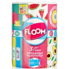 Бумажные полотенца Floom  3 слоя 33 м 3в1