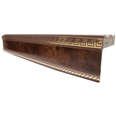 Карниз ПДК-1- 2,5 м коричневый
