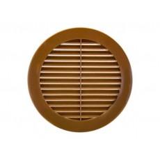 Решетка наружная вентиляционная круглая D130 с фланцем D100, ASA 10РКН коричневый