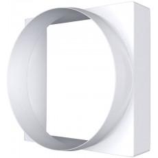 Соединитель квадрата 90х90 с круглым воздуховодом пластик D100 09КВ