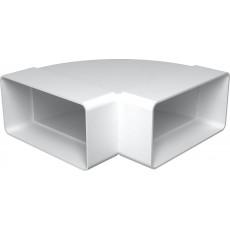 Колено горизонтальное пластик 90°612КГП , 60х120