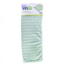 Салфетка из микрофибры VETTA для стекол и зеркал с бамбуковым волокном 30х40см, 300г/кв.м