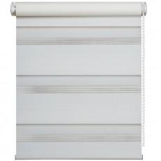 43x170 рулонная штора зебра, День-Ночь белая