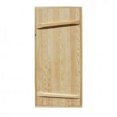Дверной блок банный массив ДБ-1755х755 ( хвоя )