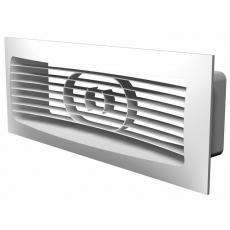 612РСФ, Решетка вентиляционная приточно-вытяжная АБС 150х90 с фланцем 120х60
