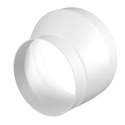 1012,5 РЭП Соединитель эксцентриковый круглого воздуховода с круглым пластик. D100/125 (12)