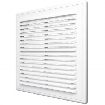 Решетка вентиляционная вытяжная 2525Р АБС 249х249 белая