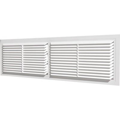 Решетка вентиляционная переточная 4513РП, АБС 455х133, белая